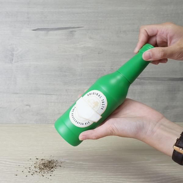 Holar - Salt and Pepper - Wood Mill - BR-01 Beer Bottle-Shaped Salt and Pepper Grinder - How to Use
