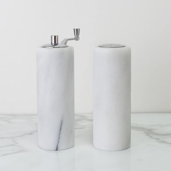 Holar - Tabletop - Marble - MB-38WT Marble Salt and Pepper Mill with Handle - 2