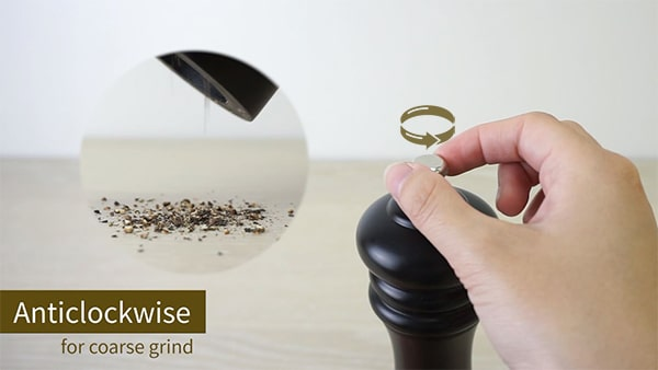 Holar anticlockwise for coarse grind