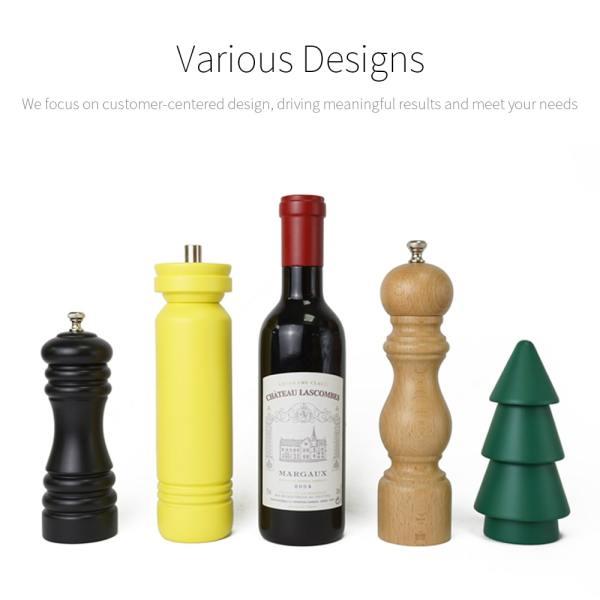 Holar designed wood manual salt pepper grinders