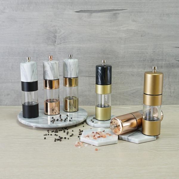Holar marble rose gold and gold series pepper grinder