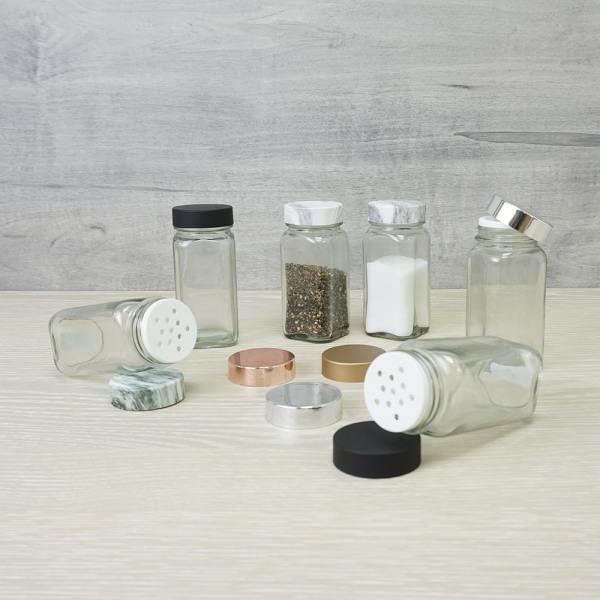 beautiful glass seasoning shaker jars set