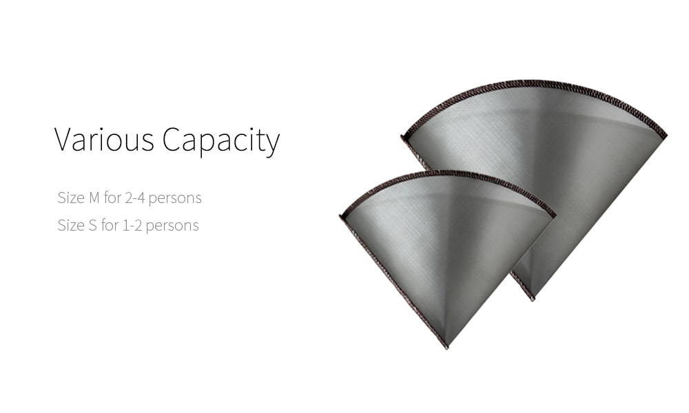 capacity of pour over coffee filter-PS-DC03