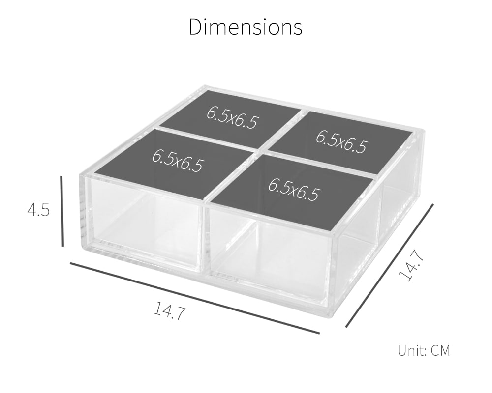 dimension-Holar AZ-24 acrylic organizer