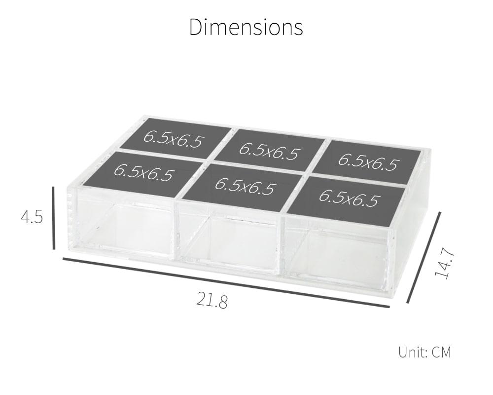 dimension-Holar AZ-25 acrylic organizer