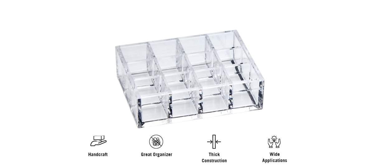 features of AZ-18 12 spaces lipsticks acrylic organizer