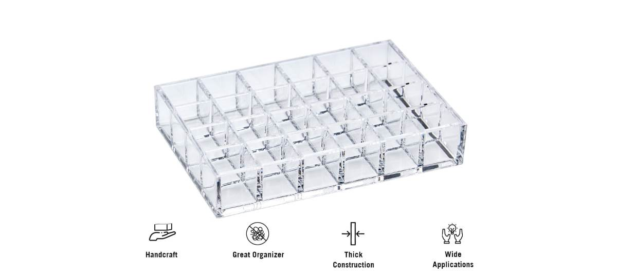 features of AZ-19 24 slot lipsticks acrylic organizer