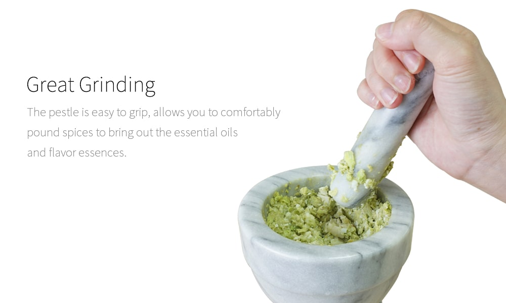 great grinding-Holar marble mortar and pestle