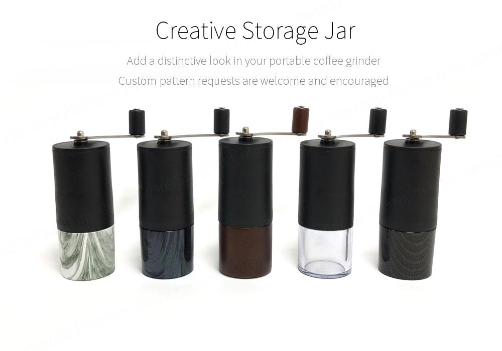 mini coffee grinder with customerized storage jar