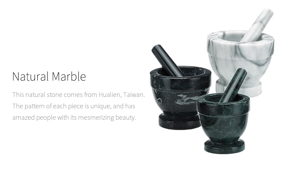 natural marble - Holar marble mortar and pestle