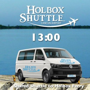 13:00 Shared Shuttle to Holbox Ferry, Chiquila Port from Cancun Airport