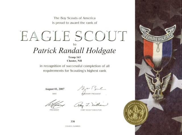 eagle scout certificate template free download