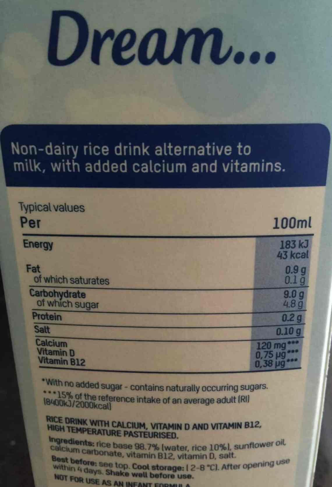 Rice Dream, dairy alternative