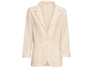 Baumwoll-Blazer langarm in gelb für Damen von bonprix