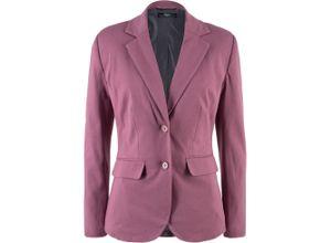 Baumwoll Jersey-Blazer, tailliert langarm in rosa für Damen von bonprix