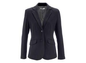 Baumwoll Jersey-Blazer, tailliert langarm in schwarz für Damen von bonprix
