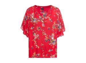 Bedruckte Bluse kurzer Arm in rot für Damen von bonprix
