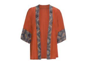 Bedruckter Kimono-Blazer 3/4 Arm in braun für Damen von bonprix