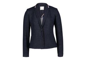 Betty & Co, Blazer-Jacke, Navy Blue, Steppmuster, Reverskragen, L: 56 cm, Unifarben Stil, langarm, für Frauen