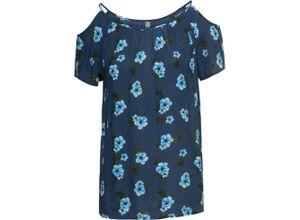 Bluse kurzer Arm in blau (Rundhals) für Damen von bonprix