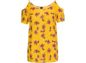 Bluse kurzer Arm in gelb (Rundhals) für Damen von bonprix