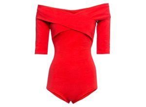 Body langarm in rot für Damen von bonprix