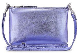 COX, Metallic-Clutch in lila, Umhängetaschen für Damen Gr. 1
