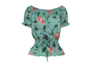 Carmen-Bluse in grün für Damen von bonprix