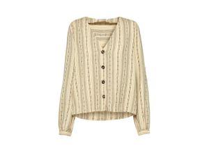 EDITED Bluse 'Noori' beige / schwarz