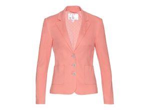 Jersey-Blazer langarm in orange für Damen von bonprix
