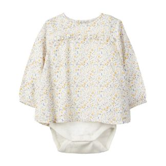 NAME IT Blumenprint Body-hemd Damen White