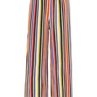 NAME IT Mehrfarbige Hose Mit Weitem Bein Damen Blau