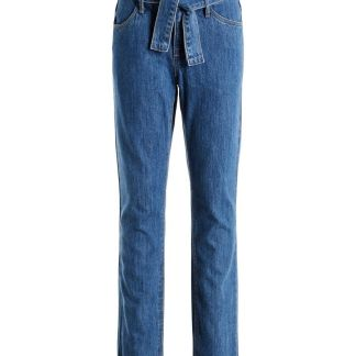 NAME IT Regular Fit Bindegürtel Jeans Damen Blau