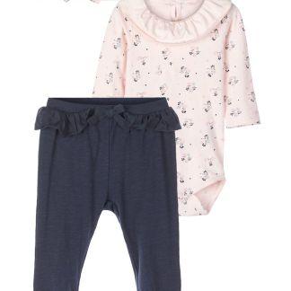 NAME IT Strampler Und Hose Geschenk-set Damen Pink