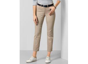 NYDJ Damen Jeans-Hose Slim Fit Beige einfarbig atmungsaktiv elastisch mit flexiblem Bund