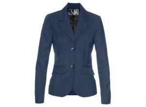 Premium Blazer mit Wollanteil langarm in schwarz für Damen von bonprix