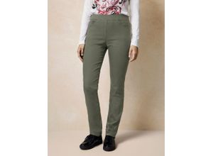 Raphaela by Brax Damen Dynamic Jeans Slim Fit einfarbig Khaki