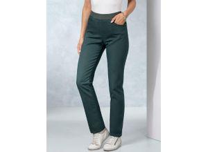 Raphaela by Brax Damen Dynamic Jeans Slim Fit einfarbig Moosgrün