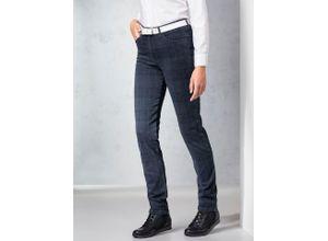 Raphaela by Brax Damen Jeans Hose Slim Fit Blau kariert elastisch mit flexiblem Bund