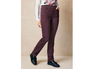 Raphaela by Brax Damen Jeans-Hose Slim Fit Lila einfarbig elastisch mit flexiblem Bund