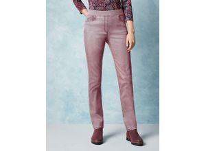 Raphaela by Brax Damen Jeans-Hose Slim Fit Rosé einfarbig elastisch mit flexiblem Bund