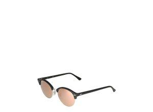 Ray-Ban Sonnenbrille 'Clubround' pink / schwarz