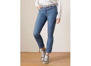 Walbusch Damen 7/8 Yoga Jeans Supersoft Regular Fit einfarbig Blue bleached