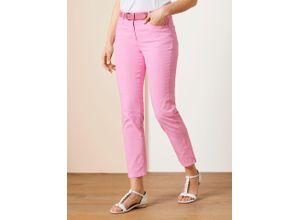 Walbusch Damen 7/8 Yoga Jeans Supersoft Regular Fit einfarbig Softpink