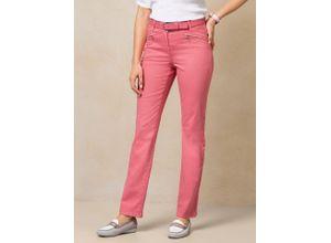 Walbusch Damen Cotton Hose Regular Fit Orange einfarbig atmungsaktiv elastisch mit flexiblem Bund temperaturausgleichend