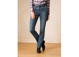 Walbusch Damen Husky-Jeans Regular Fit einfarbig Blue Stone