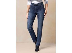 Walbusch Damen Jeans Bestform Regular Fit einfarbig Blue stoned