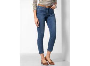 Walbusch Damen Jeans-Hose Coolmax noch offen: Filter Passform Blau einfarbig elastisch mit flexiblem Bund