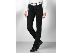 Walbusch Damen Jeans-Hose Regular Fit Schwarz einfarbig atmungsaktiv elastisch mit flexiblem Bund