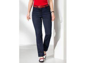 Walbusch Damen Passform Jeans Slim Fit Slim Fit einfarbig Dark Blue